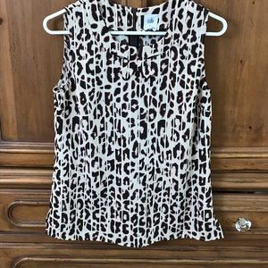 Cabi Career Wear Leopard cheetah top Small S